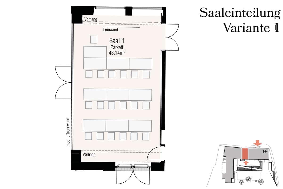 Veranstaltungssaal S1 Variante 1