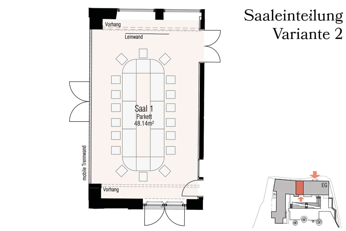 Veranstaltungssaal S1 Variante 2