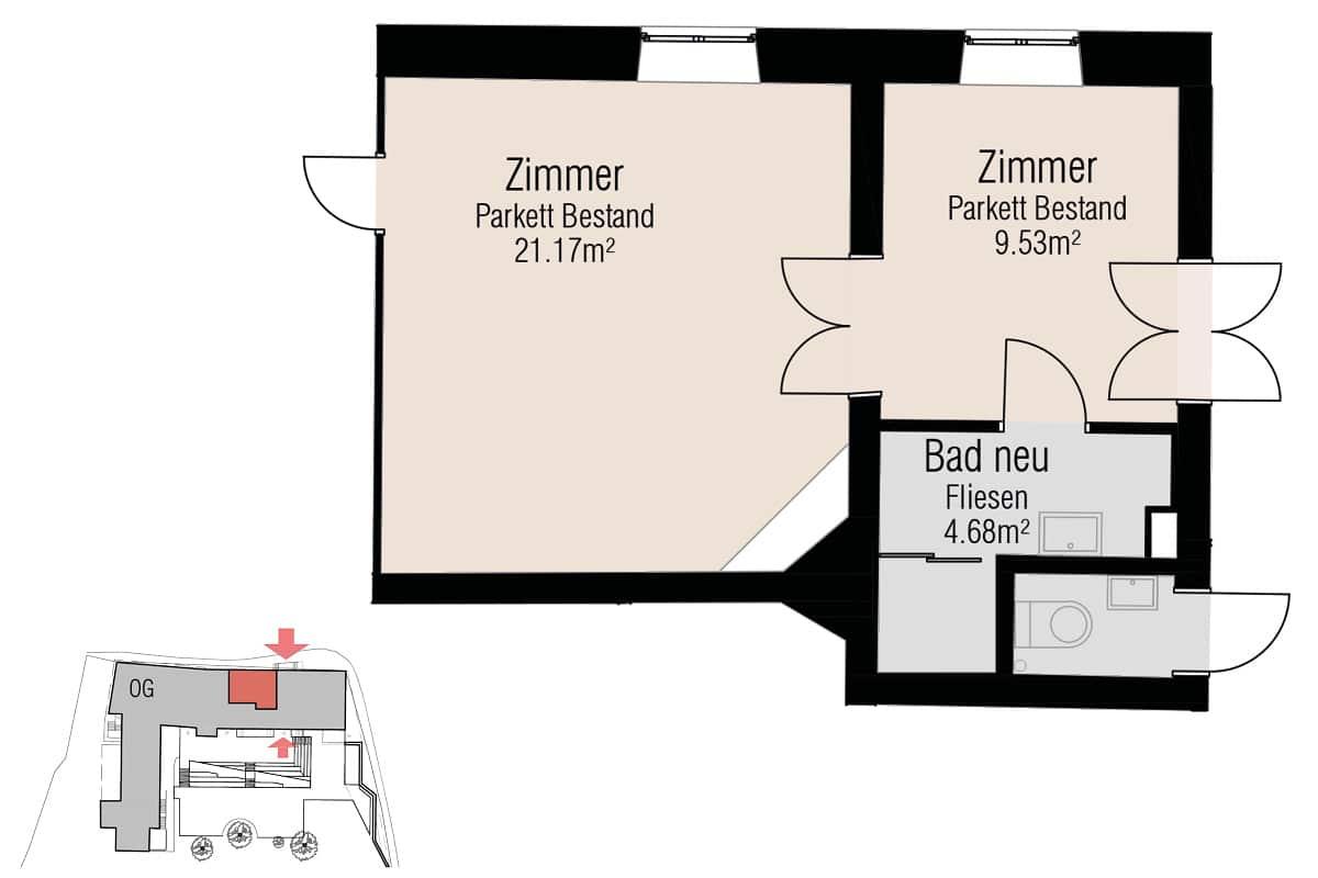 Räume OG Stieglerhaus