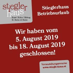 Betriebsurlaub August 2019