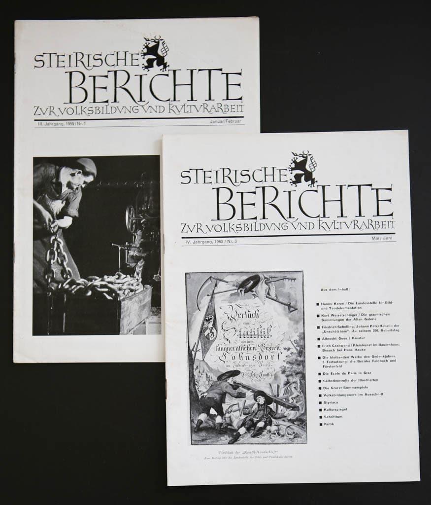Stieglerhaus Archiv Steirische Berichte