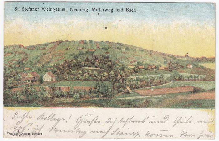 Stieglerhaus Archiv Ansichtskarte Neuberg Mitterweg Bach