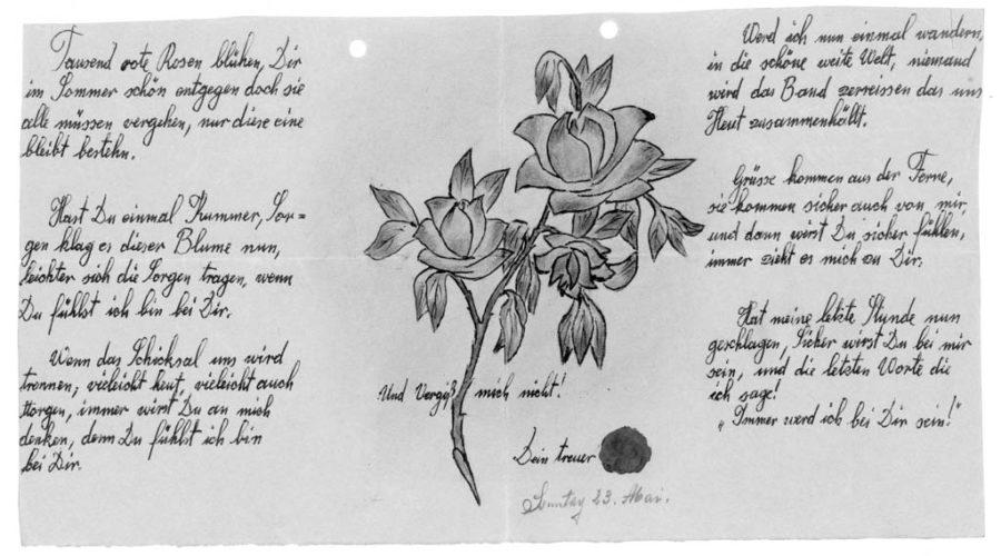 Stieglerhaus Archiv Liebesbrief an einen Frontsoldaten